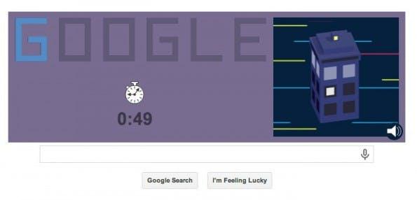 Google Doodle: Ziel ist es, die Level möglichst schnell zu überwinden. (Screenshot: Google)