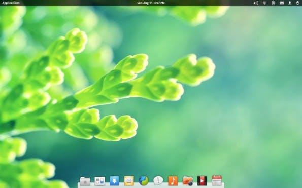 ElementaryOS basiert auf Ubuntu und ähnelt OS X. (Screenshot: Kennethsime / Wikiemedia Commons Lizenz: CC BY-SA 3.0)