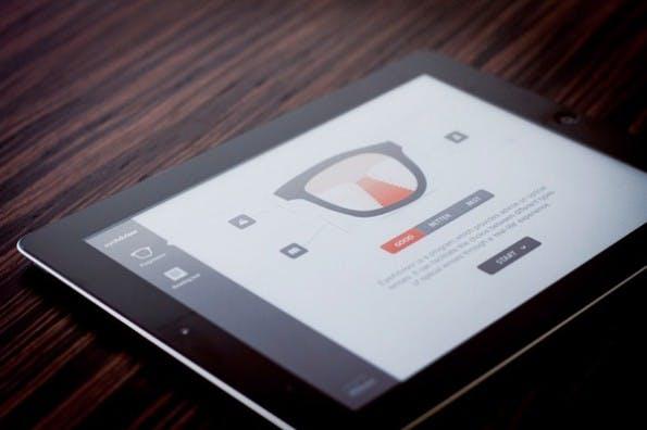 """Die App """"eyeAdvisor"""" von Nikon demonstriert die Unterschiede zwischen verschiedenen Brillengläsern. (Foto: behance.net)"""
