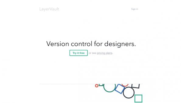 Screenshot: Layervault