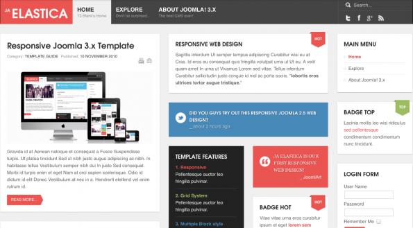 Joomla Elastica Template