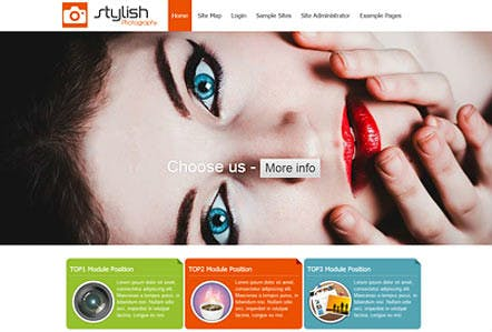 Stylish Photography Joomla Template