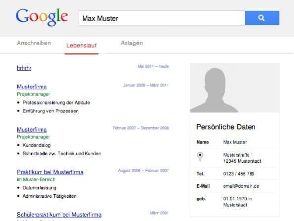 Die Lebenslauf-Vorlagen von lebenslauf.com bieten verschiedene Designs. (Screenshot: lebenslauf.com)