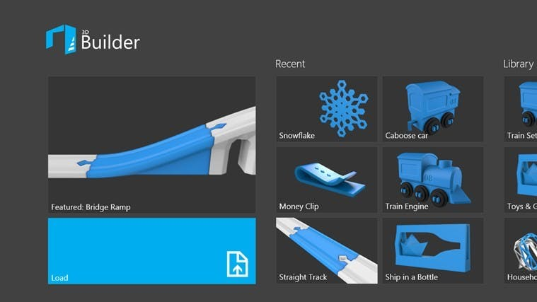"""Der neue """"3D Builder"""" von Microsoft ist CAD-Anwendung und Modell-Bibliothek in einem. (Quelle: microsoft.com)"""