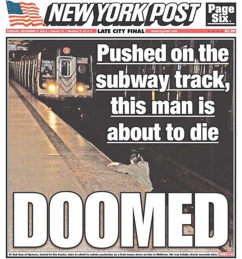 Auch die New York Times fragte später, ob dieses Foto hätte veröffentlicht werden dürfen. (Screenshot: New York Times via Newseum)