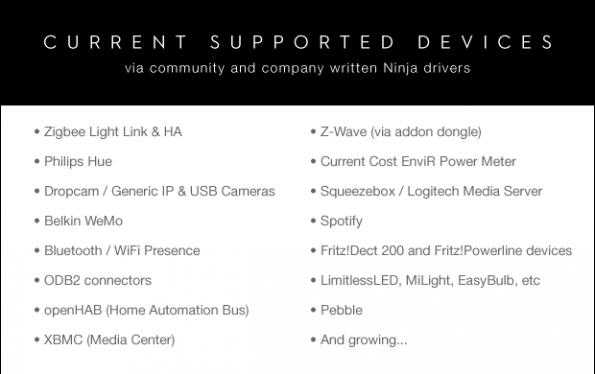 Ninja Sphere funktioniert mit bestehenden Smart-Home-Komponenten und Wearable Devices. (Quelle: kickstarter.com)