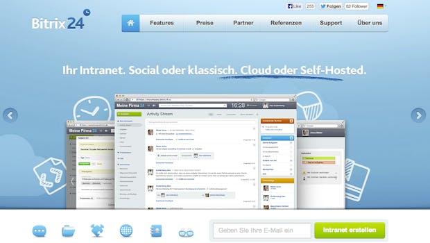 Das Enterprise-Social-Network Bitrix24  beinhaltet die gängisten Tools eines klassischen Intranets wie beispielsweise Aufgaben, Kalender oder auch ein CRM.