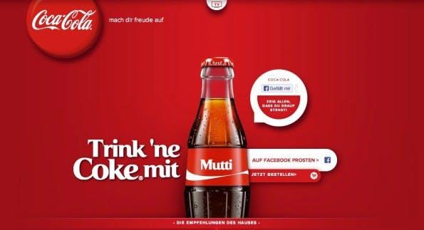 Coca Cola setzt auf Freundschaft. (Screenshot: Coca Cola)
