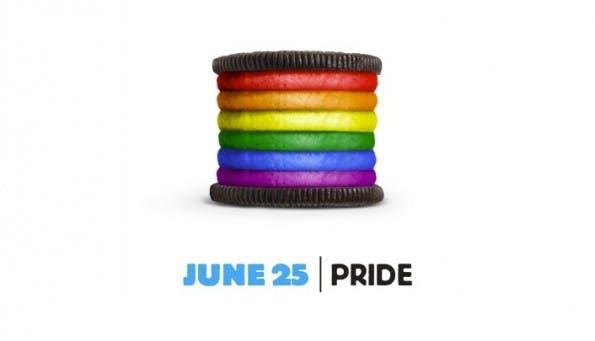 """Eine der großartigen Social-Media-Kampagnen: Oreo hat für den """"Gay Pride Day"""" einen Keks im Regenbogen-Look konzipiert. (Screenshot: Oreo)"""