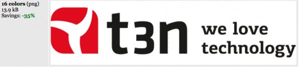t3n Logo nach Farbreduktion