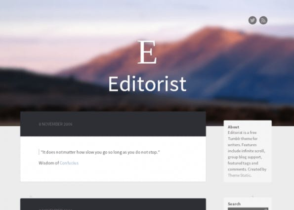 Editorist ist optisch ein absoluter Augenschmaus und ist perfekt für einen privaten Blog. (Quelle: tumblr.com)