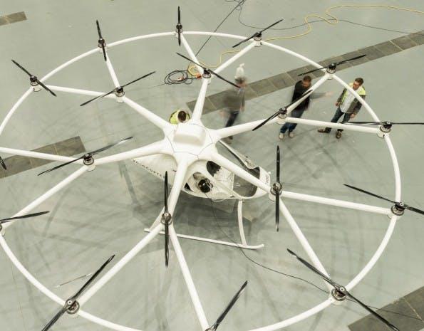 Der Volocopter ist das Fluggerät der Zukunft, wenn es nach den Machern von e-volo geht. (Quelle: e-volo.com)