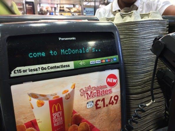 Mobile Payment in England ist allgegenwärtig (Foto: Maik Klotz)