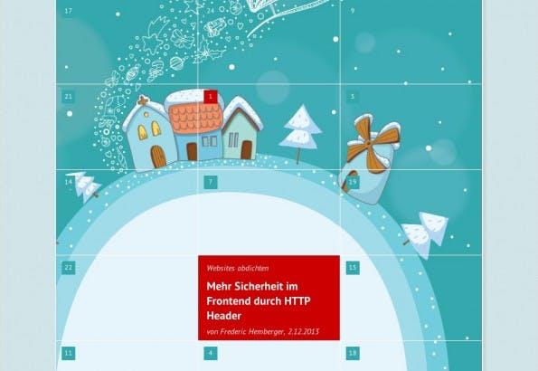 Der Adventskalender von Webkrauts. (Screenshot: webkrauts}