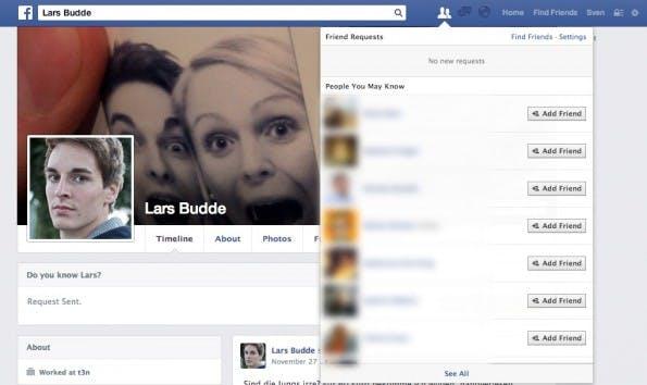 Versteckte-Freundeslisten auf Facebook können sichtbar gemacht werden. (Screenshot: Facebook)