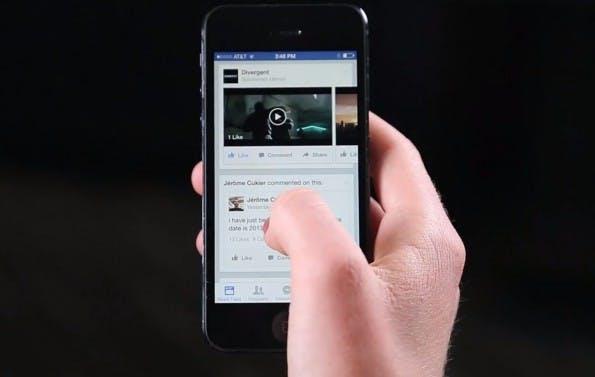 Video-Werbanzeigen im Newsfeed: Im Auto-Play-Modus und ohne Ton. (Screenshot: Facebook for Business)