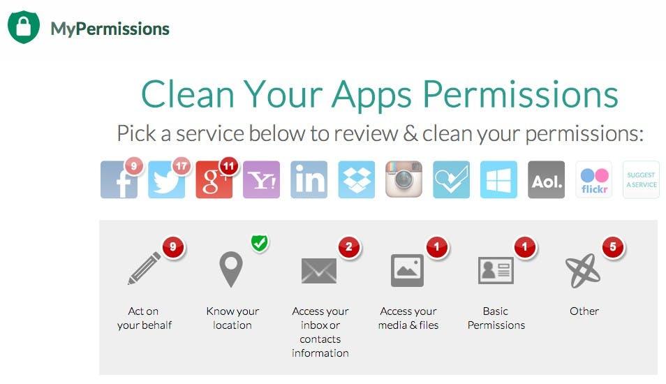 MyPermission-Cleaner: App-Zugriffsrechte für Facebook-, Twitter- und jetzt auch Google-Accounts verwalten