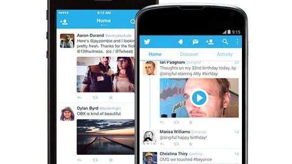 Twitter auf Nexus 5 und iPhone 5s.