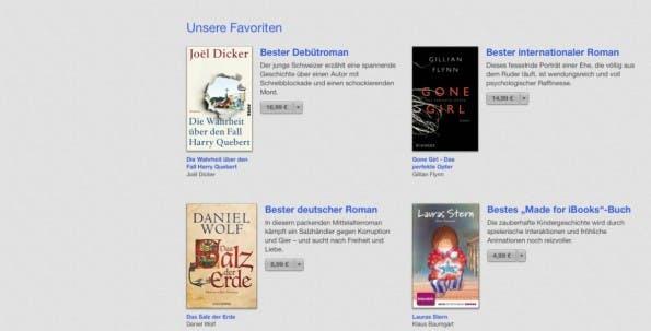 Leseratten finden in der Bücher-Kategorie die laut Apple besten Werke des Jahres. (Bild: iTunes)