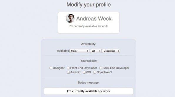 Availability.is: Lege dein Jobangebot an. (Screenshot: availability.is)