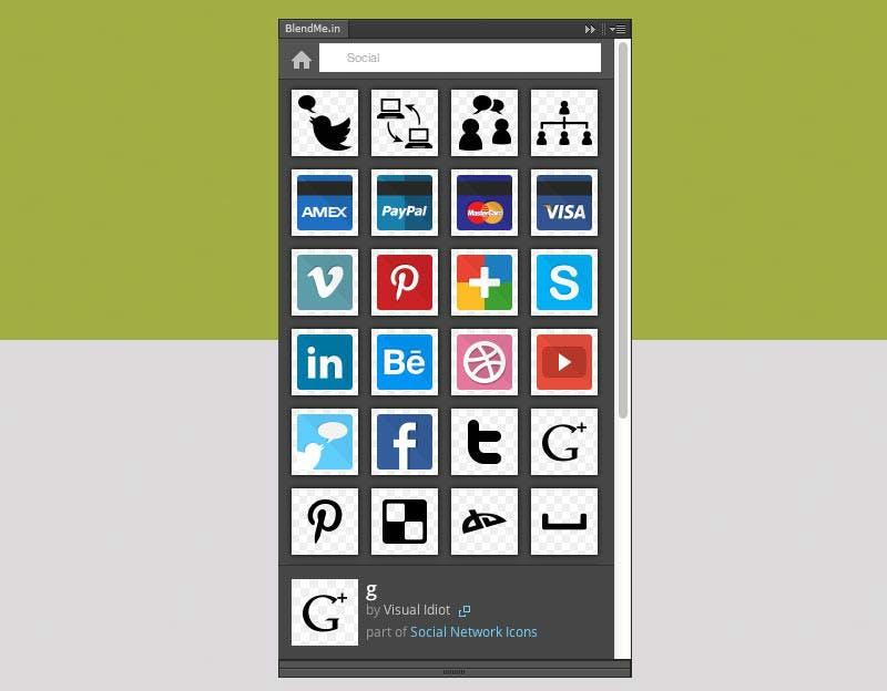 BlendMe.in: Clevere Icon-Suchmaschine für Photoshop und Illustrator