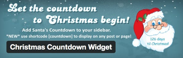 Countdown to Christmas Wordpress Plugin