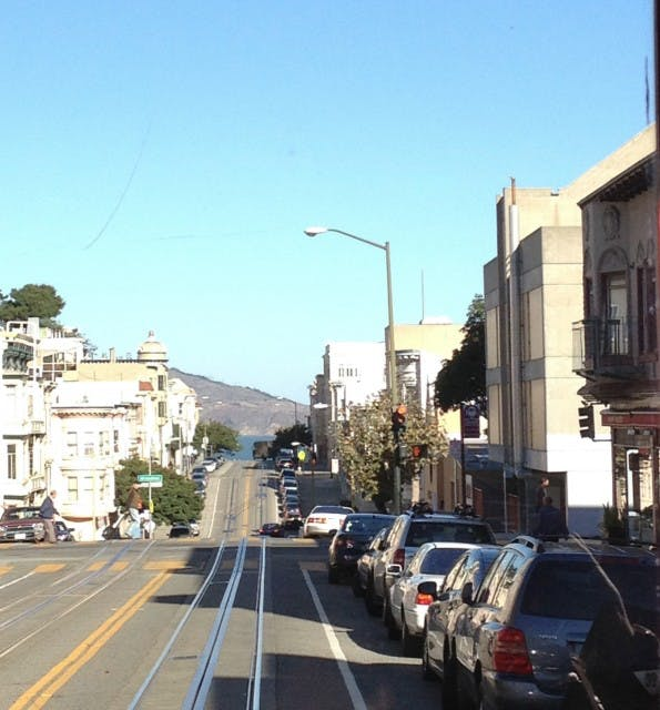 Blick vom Cable-Car in RIchtung Fishermans Wharf (Bild: J.G.Weber)