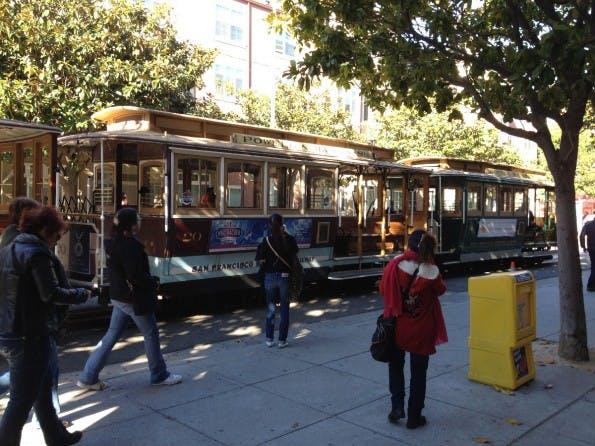 Eines der berühmten Cable-Cars in San Francisco. (Bild: J.G.Weber)