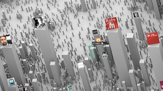 Ekisto macht aus GitHub eine aufregende 3D-Stadt