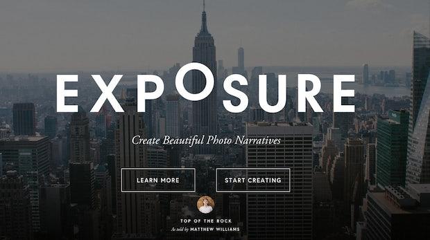 Exposure macht aus euren Fotoalben stylische Webseiten
