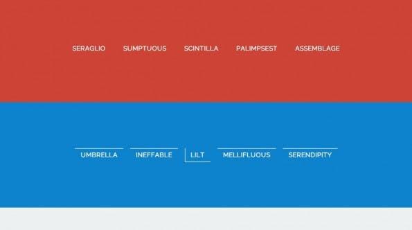 Frontend-Design: Vorallem Menu-Links können auch mal etwas mehr hermachen. (Screenshot: Codrops)