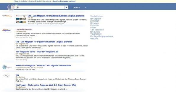 Unbubble: Der deutsche Anbieter setzt auf Datenschutz. (Screenshot: Unbubble)