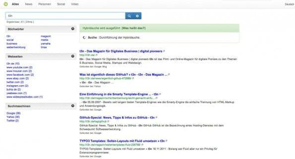 Wegtam: Die deutsche Google-Alternative konnte in unserem Test überzeugen. (Screenshot: Wegtam)