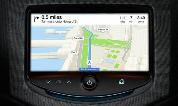iOS in the Car: Mit Kartenfunktionen und mehr will Apple künftig auch die PKWs seiner Kunden erobern. (Bild: Apple)