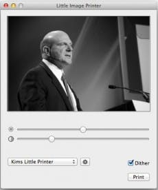 Little Image Printer für OS X. (Screenshot: Little Image Printer)