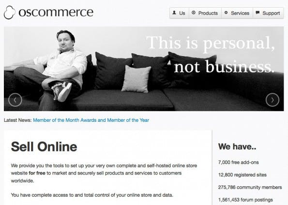 (Screenshot: osCommerce)