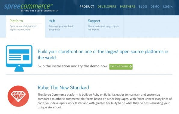 (Screenshot: spreecommerce.com)
