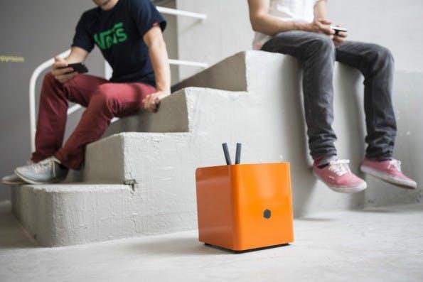 Mit seinen orangefarbenen und sicheren Serverboxen wurde eroberte Protonet deutschlandweit die Schlagzeilen. (Foto: Protonet)