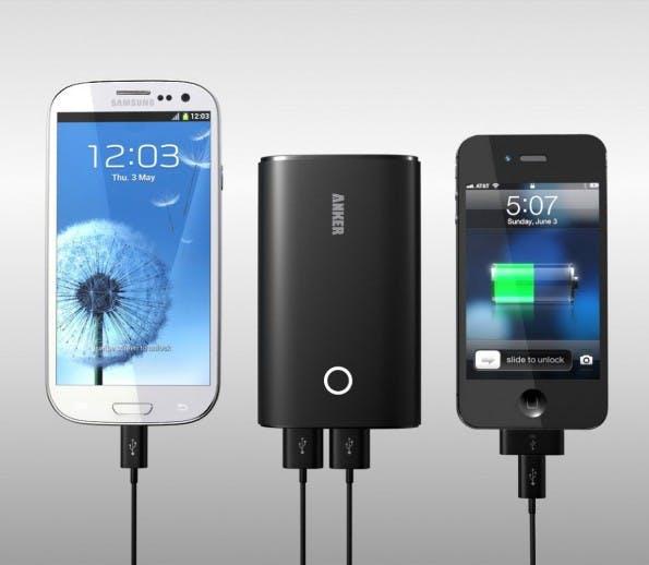 Ein externer Akku gehört für exzessive Smartphone-Nutzer heutzutage zur Standard-Ausrüstung, besonders auf der Piste abseits von der nächsten Steckdose. (Quelle: amazon.com)