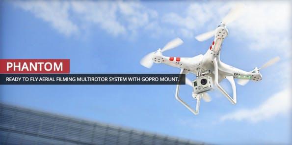 Quadrokopter mit GoPro-Halterung. (Bild: DJI).