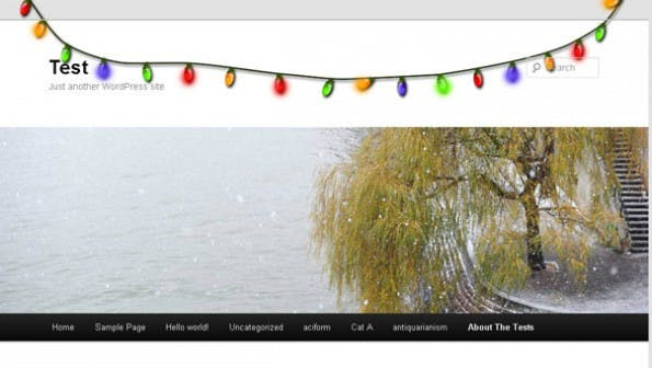 Xmas Lights WordPress Plugin