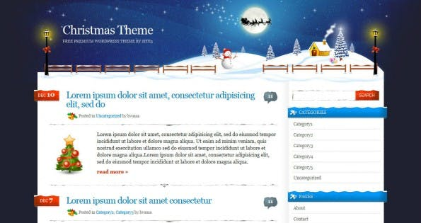 Xmas WordPress Theme