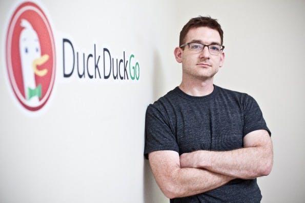 DuckDuckGo CEO with Logo