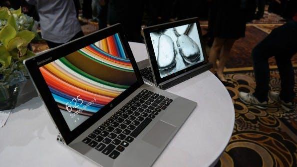 Lenovo MIIX 2: Die Geräte in 10 und 11 Zoll machen einen guten Eindruck und bringen auf dem Papier ordentlich Leistung mit. (Foto: Moritz Stückler)