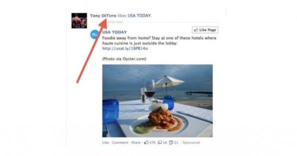 Anthony DiTirro vs. Facebook: Bild und Name ohne Einwilligung zu Werbezwecke genutzt. (Quelle: Gigaom)