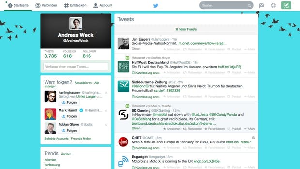 Twitter-Redesign: Newsfeed.