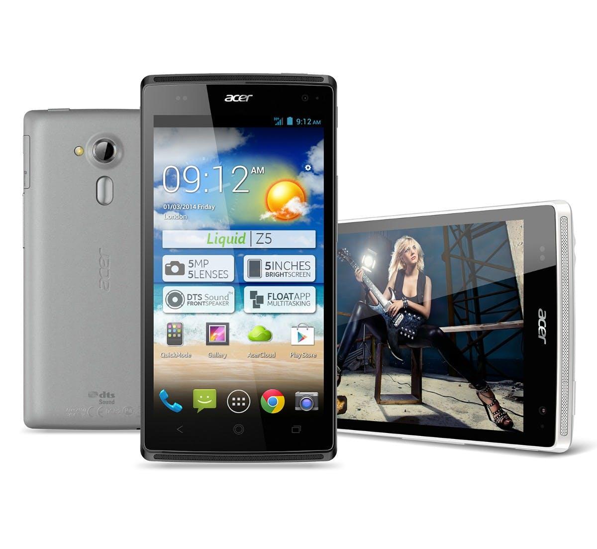 CES 2014: Acer Liquid Z5 – Dual-SIM-Smartphone für den kleinen Geldbeutel im Hands-On