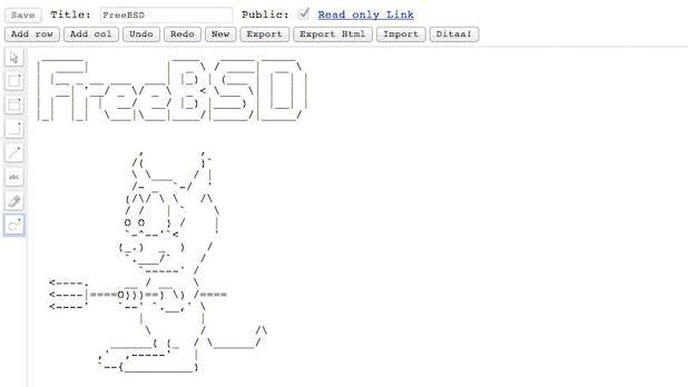 ASCIIFLOW: Webbasierter Editor macht ASCII-Art zum Kinderspiel