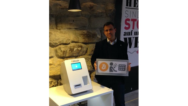 Bitcoin Geldautomat in der Markthalle in Zürich. (Bild: World Bitcoin Association)