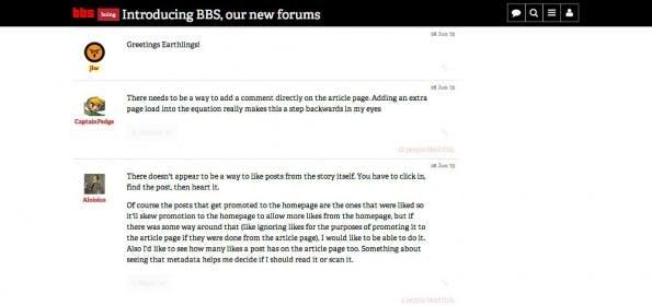 Discourse im Einsatz bei BoingBoing. (Screenshot: BoingBoing)